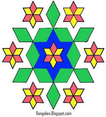 Rangoli Designs Using Dots, Dots Rangoli Designs, Diwali Rangolis with