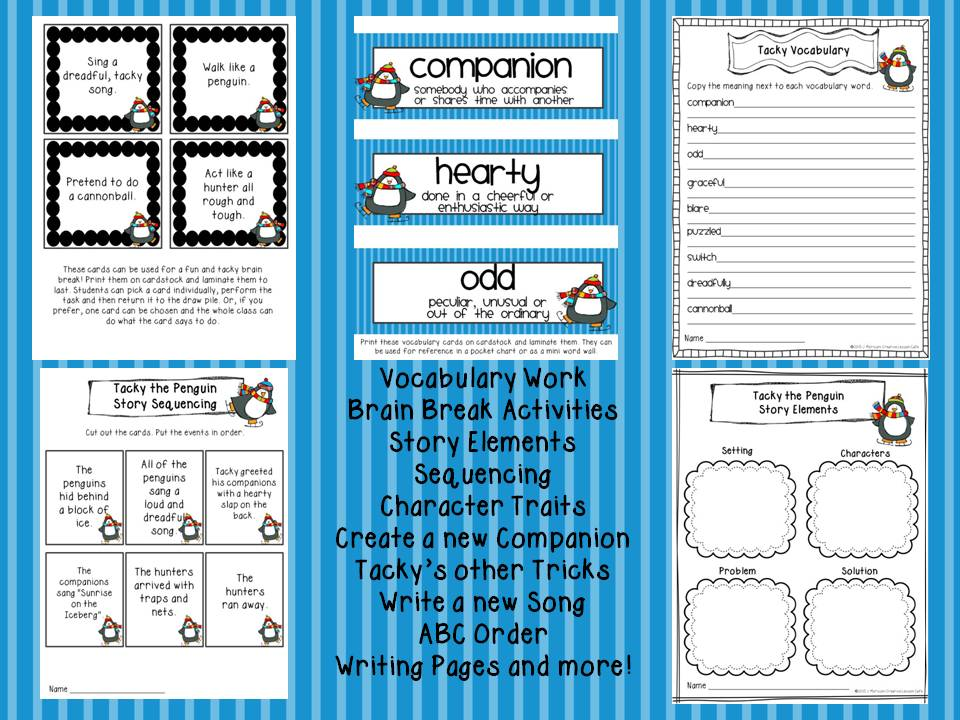 Creative Lesson Cafe: Tacky the Penguin and a Tacky Freebie