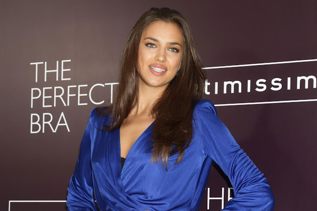 Irina Shayk sparkles at The Perfect Bra promotion in London