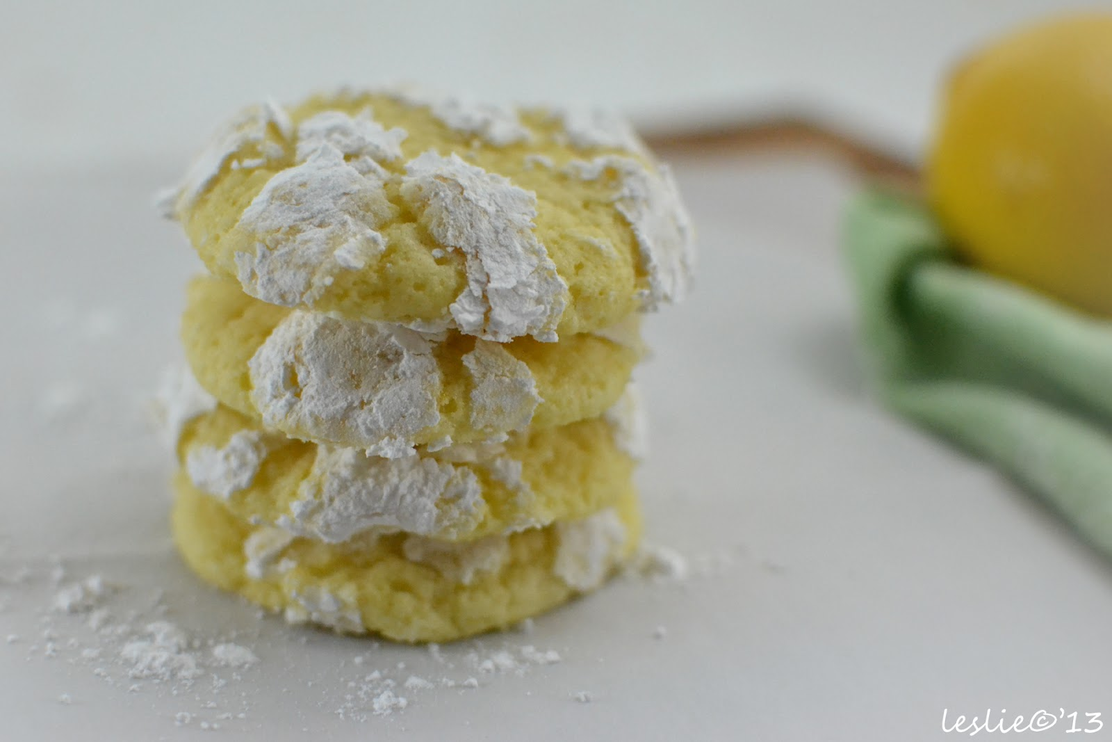 The Lucky Fox: Lemon Crinkle Cookies