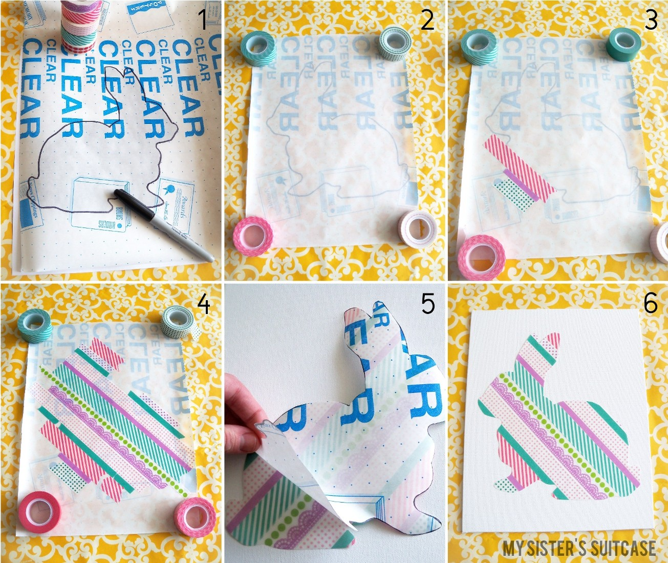 Amato Washi Tape Silhouette Art {Tutorial} - My Sister's Suitcase  YL03