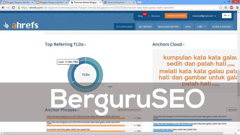 Cara Cek Backlink Web Blog dengan Ahrefs