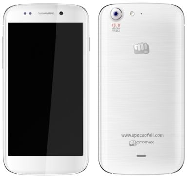 Micromax Canvas 4 with 5-inch HD display, 13 MP Camera Launched for Rs.17999