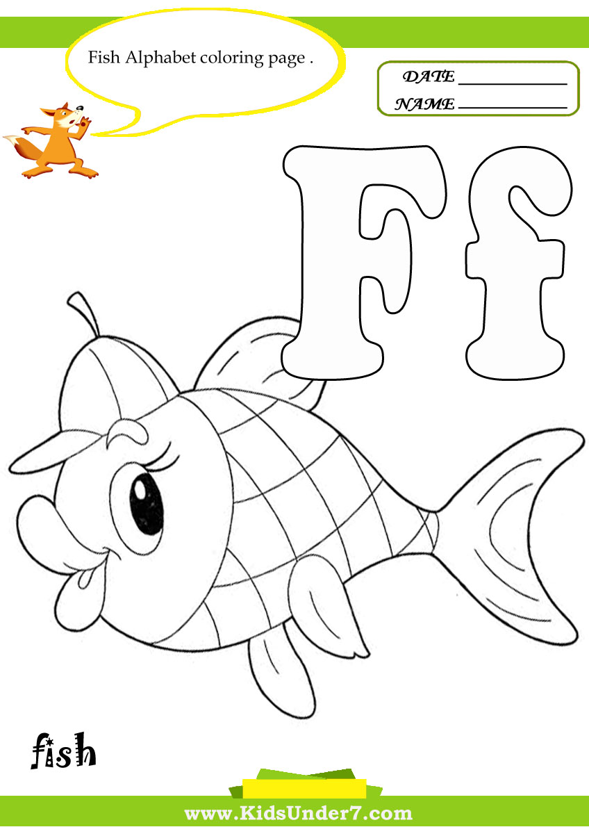 worksheet Fish Worksheets For Preschoolers kids under 7 letter f worksheets and coloring pages pages