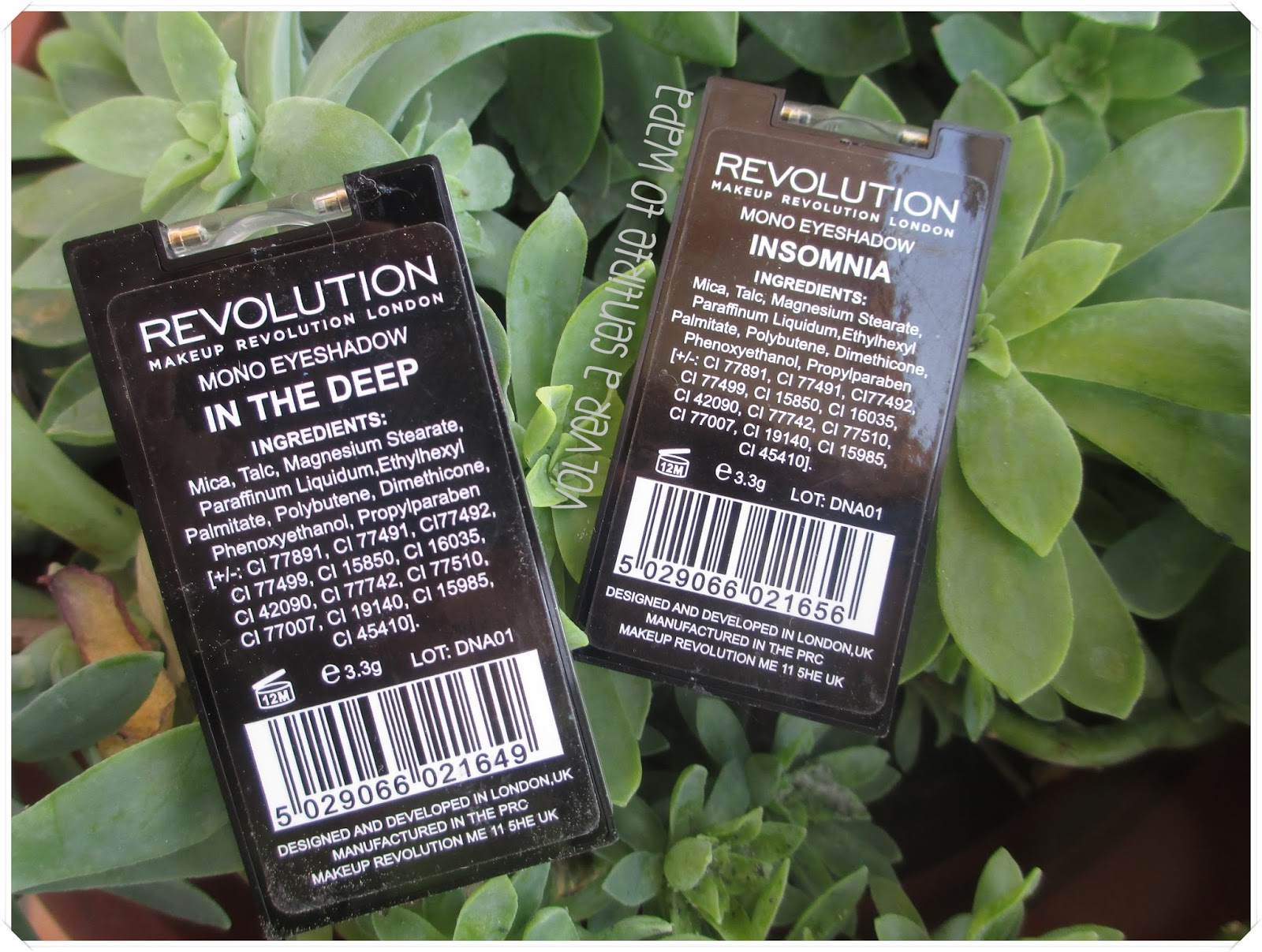 Sombras de Make Up Revolution: Insomnia & In the Deep