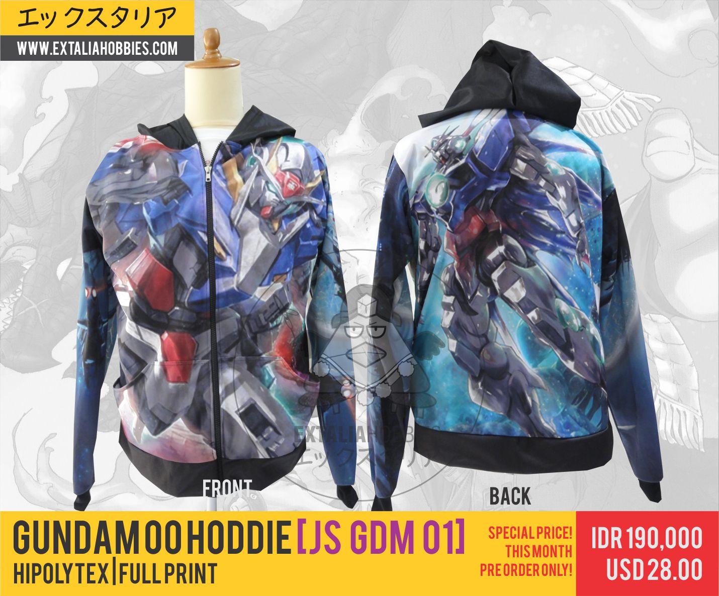 Full Print Gundam 00 Hoodie Special Price June 2015 Extalia Hobbies Jaket Anime Shingeki No Kyojin Green Kode Z 04