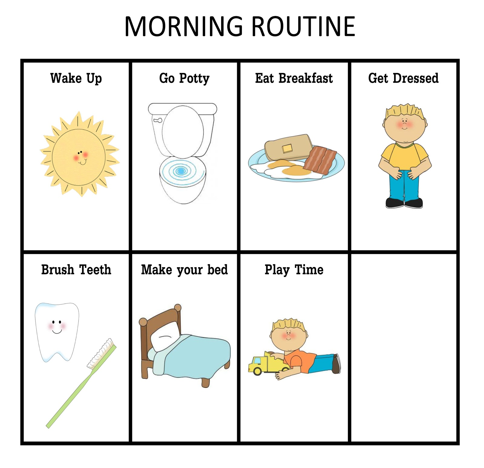 This is a graphic of Lively Printable Morning Routine Chart
