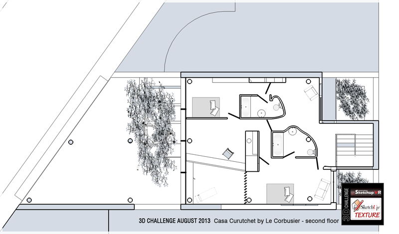 Le corbusier casa curutchet 3d challenge - Le corbusier casas ...