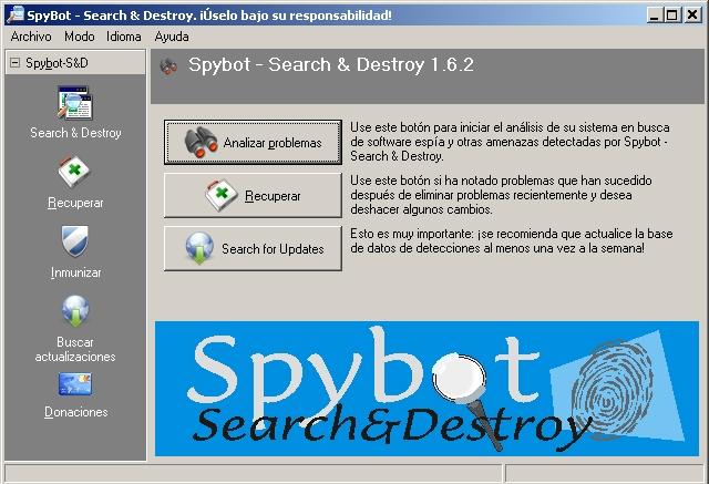 Spybot – Search & Destroy® - Solo Nuevas