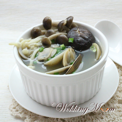 ... mushrooms and clams. Okay, She loves the clams more than the mushroom