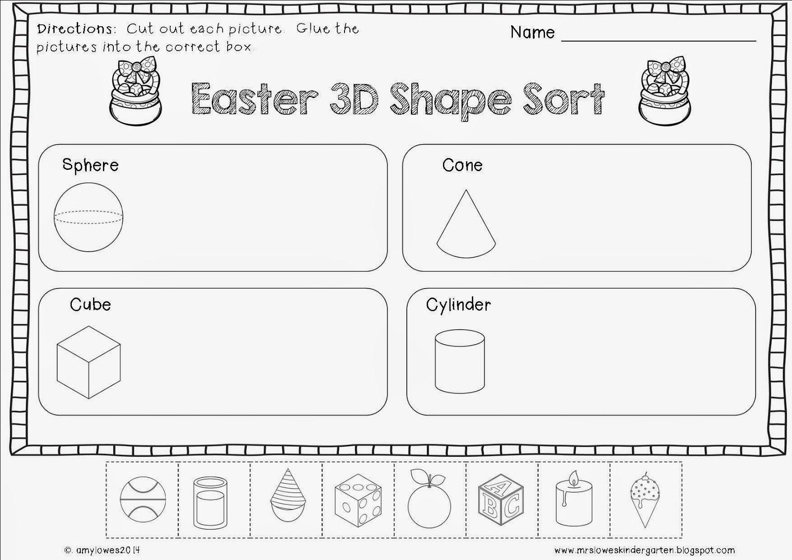 Mrs. Lowes\' Kindergarten Korner: No Prep Easter Math and Literacy ...
