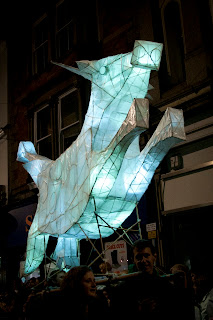 Lantern procession at Truro city of lights festival Cornwall
