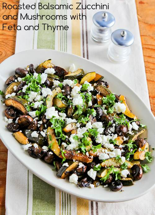 Roasted Balsamic Zucchini and Mushrooms