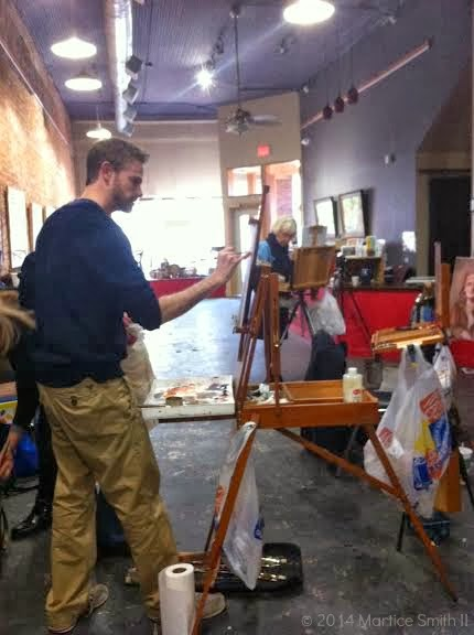 Workshop instructor Adam Clague at Got Art Gallery, Feb 2014