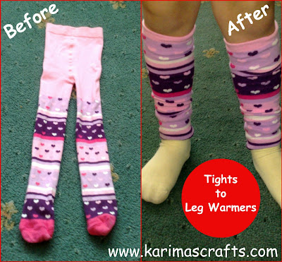 leg warmers tights upcycle muslim blog
