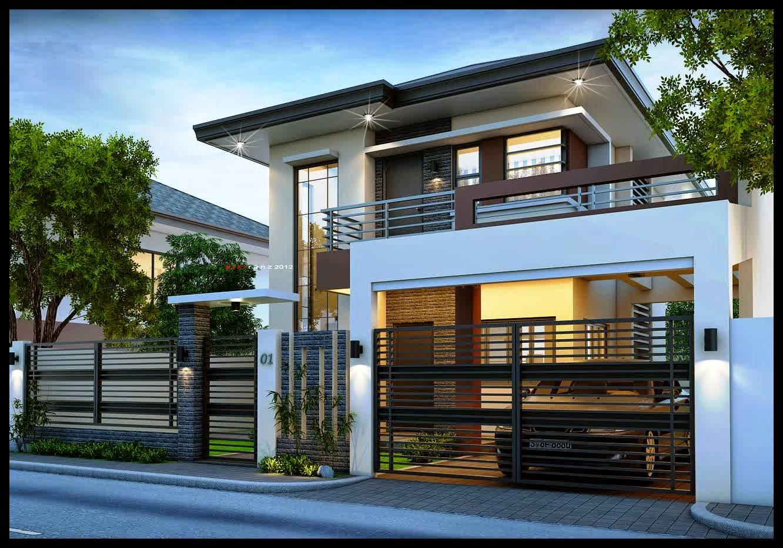 Gambarbaru gambar rumah 2 lt terbaru paling ngetren for 2 storey house exterior design