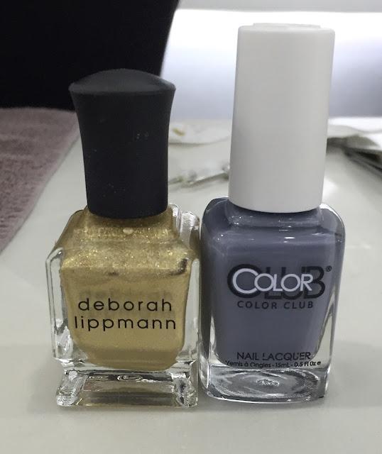 Color Club Shabby Drab, Deborah Lippmann Nefertiti, The House of Polish, geometric nail art, nails, nail polish, nail lacquer, nail varnish, manicure, #ManiMonday