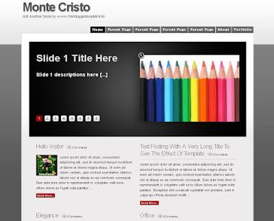 Monte Cristo Blogger Template