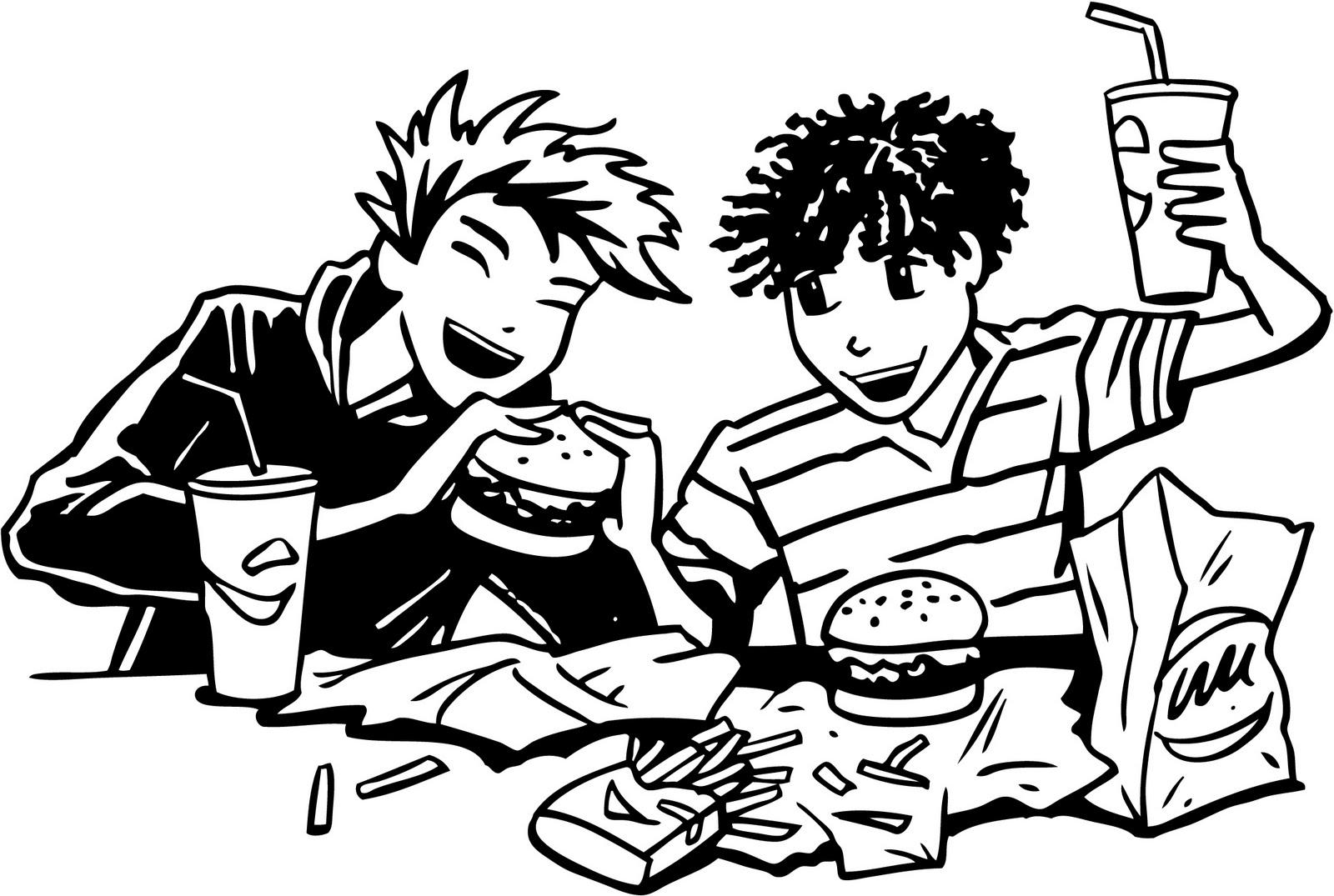 eat hamburgerfries BBW, Black, Blowjob, Huge ass,