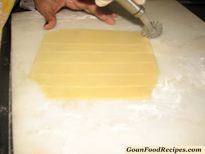 once rolled use cutter to make small squares