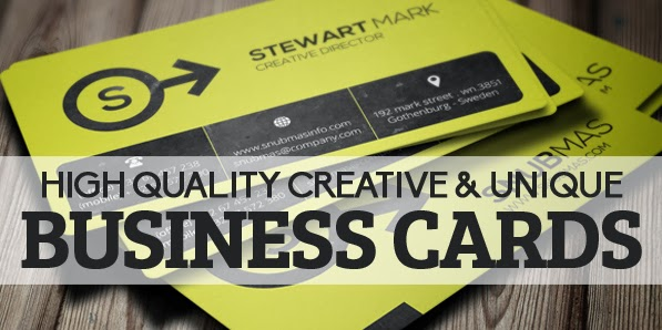 29 High Quality Creative & Unique Business Cards