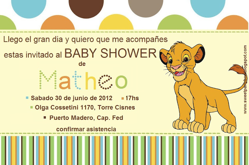 simba baby shower cake ideas and designs