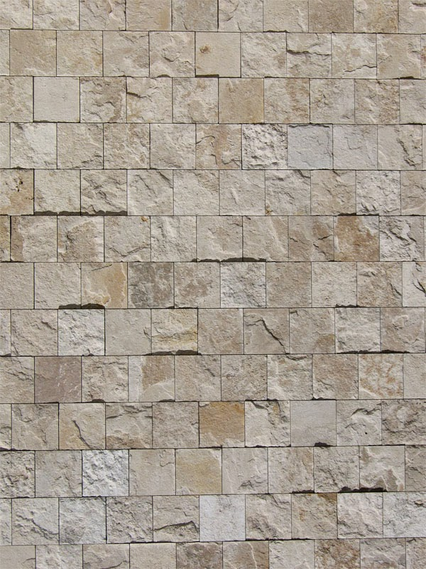 The Getty Museum, a stone wall