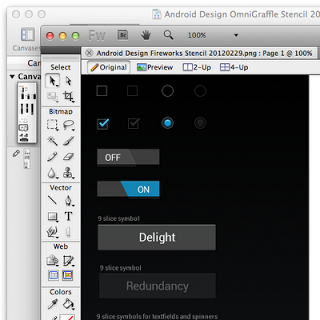 Android Developers Blog: Android Design V2: Now with stencils
