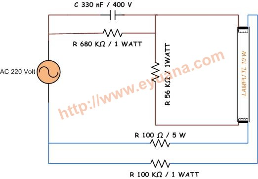 skema lampu tl tanpa trafo ballast eyuana com rh eyuana com Basement Pada Lampu TL Wiring Lighted Doorbell Button
