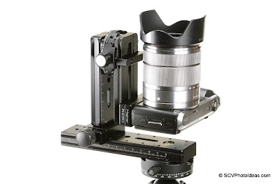 Sony NEX-C3 mounting on Mini MR Pano head