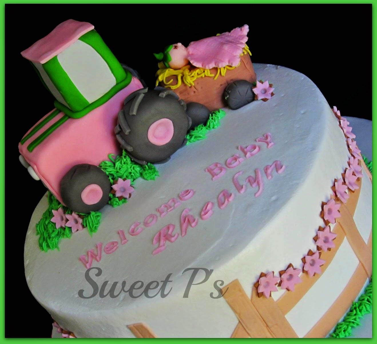John Deere Baby Shower Sweet Ps Cake Decorating Baking Blog
