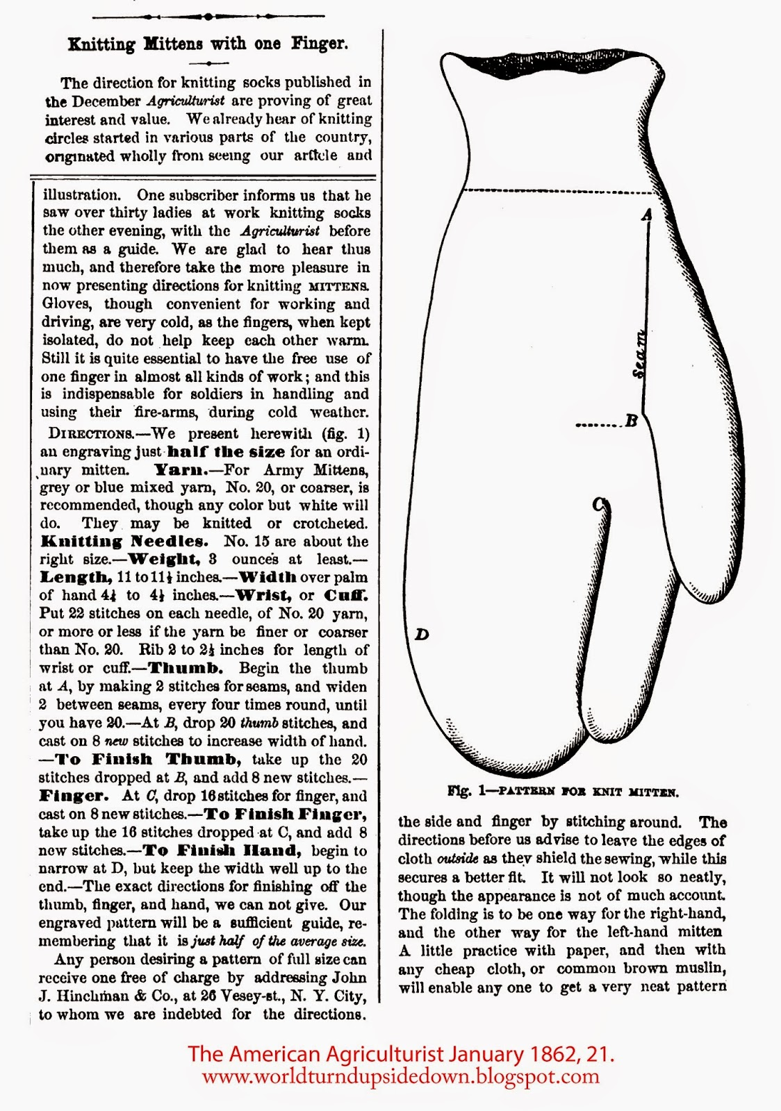 Civil War Shooter's Mittens
