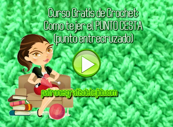 Video con tutorial como tejer el punto cesta