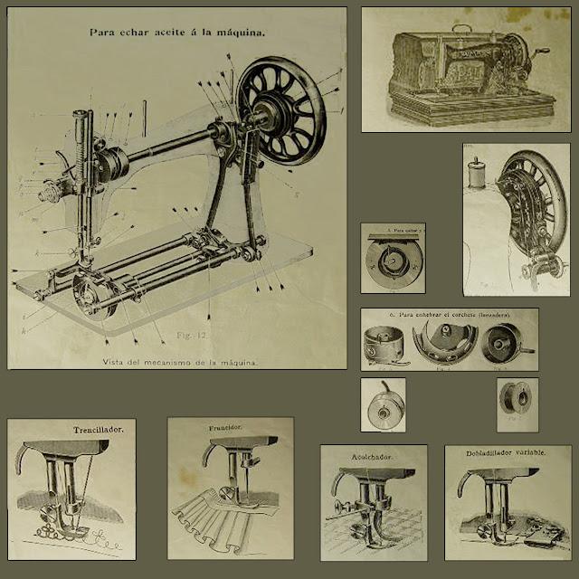 especificaciones tecnicas, maquina de coser Gritzner