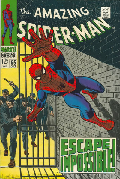Amazing Spider-Man #65, Spider-Man in jail, All-time Top Ten John Romita Spider-Man Covers