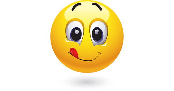 licks lips symbols amp emoticons