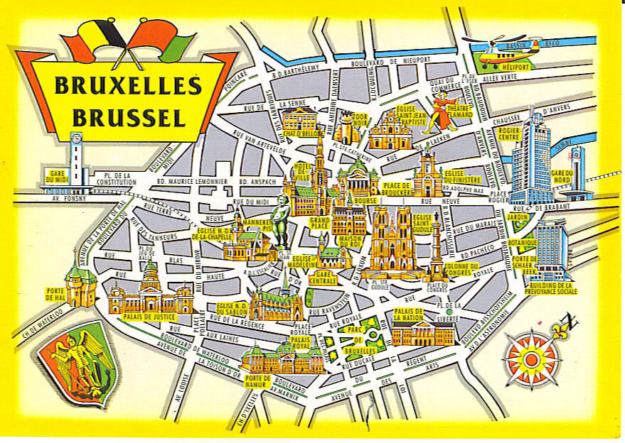 Map of cities Belgium