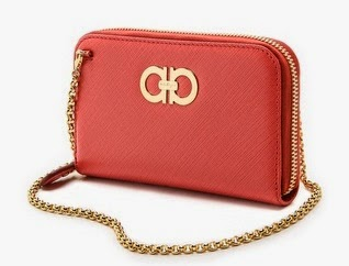 Salvatore Ferragamo Mini Gancini Wallet on Chain