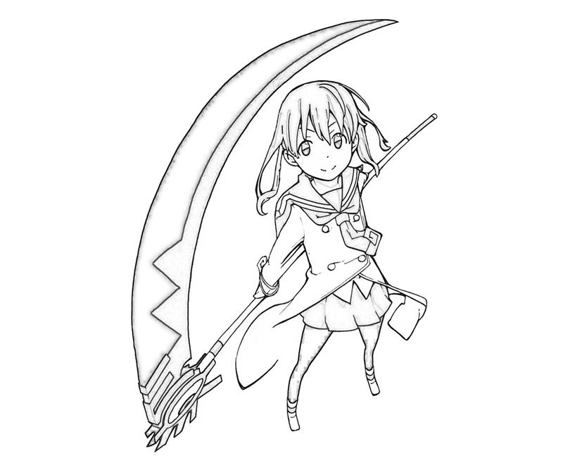 soul-eater-maka-albarn-smile-coloring-pages