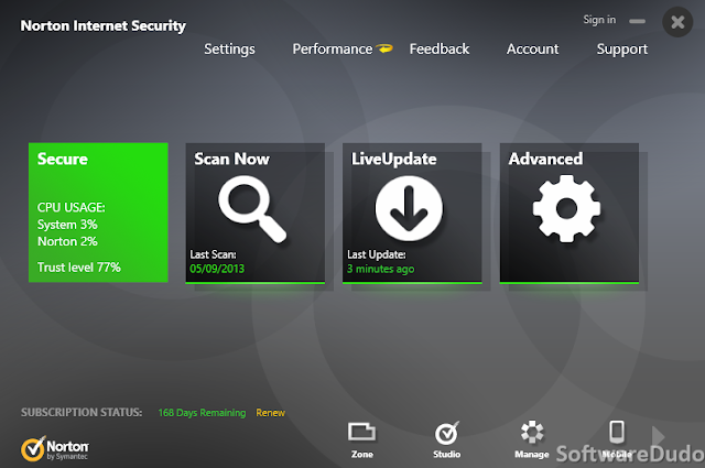 Norton Internet Security 2014 21.0 - Main Interface