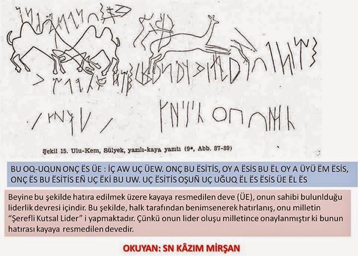Ulu-Kem, Sülyek, Yazılı-Kaya Anıtı