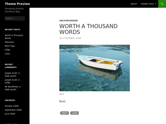 twenty fourteen Free WordPress themes 2014