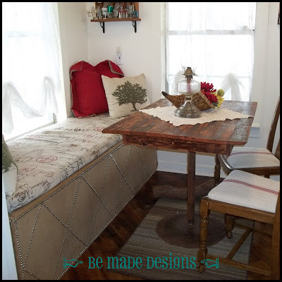 Breakfast Table Window Seat Redo {be made designs}