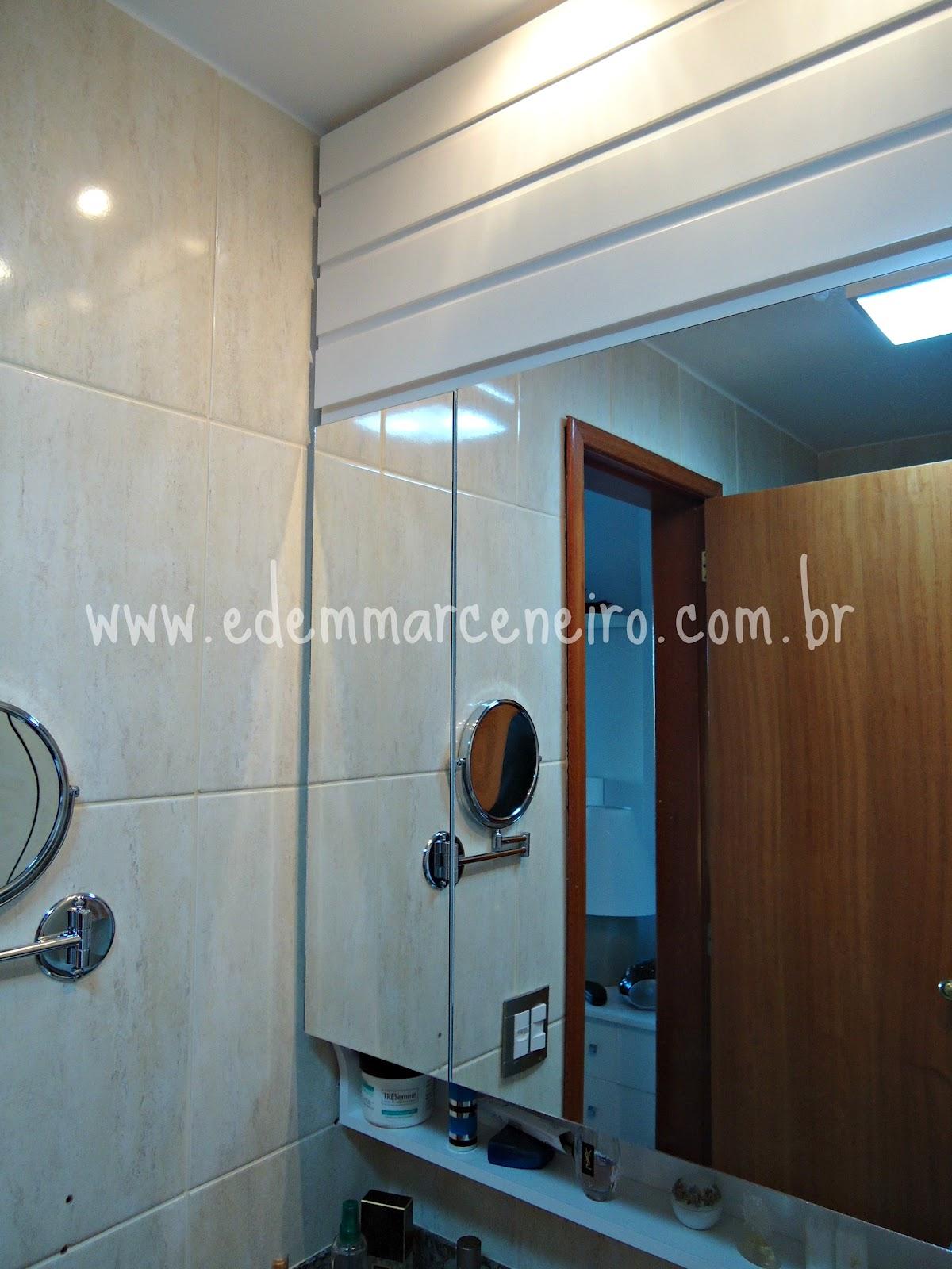 Armário Suspenso com Espelho e Porta laqueada para Banheiro Edem  #633F25 1200x1600 Armario Banheiro Suspenso