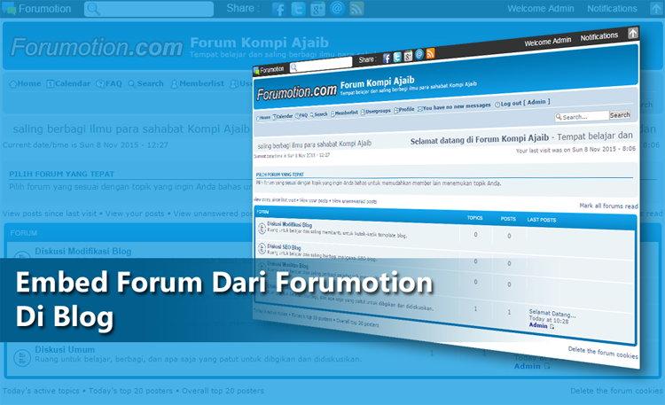 Embed Forum Dari Forumotion Di Blog
