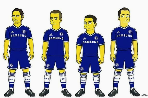 Caricatura Chelsea Los Simpson