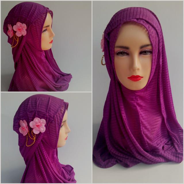 Jilbab instan fatin bunga