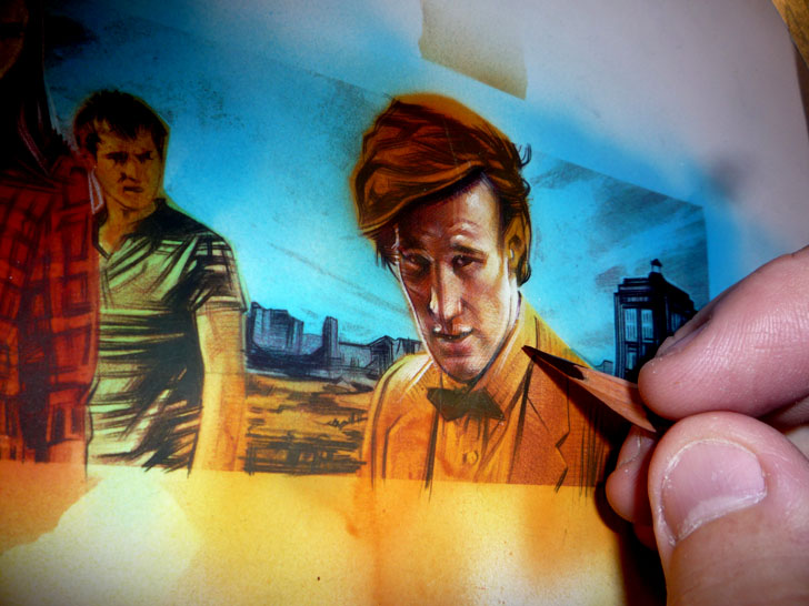 Doctor Who art by Jeff Lafferty
