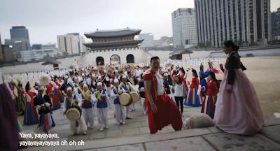 Psy Korea crowd hanbok
