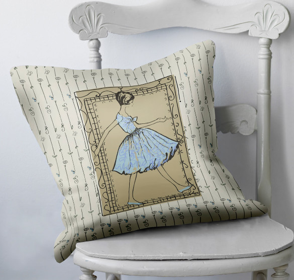 retro style cushion
